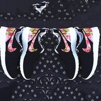 NIKE Trending Fashion Printed Floral Casual Sports Roshe Shoes