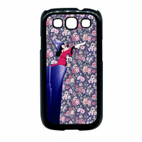 Mickey Mouse The Wizard Floral Vintage Samsung Galaxy S3 Case