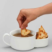 Soup Crackers Bowl- White One