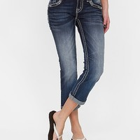 Miss Me Embroidered Cropped Stretch Jean