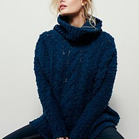 Free People Womens Fletcher Cable Poncho