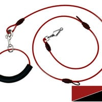 Best Heavy Duty Dog Leash Lead (Adjustable, Red)