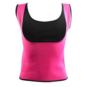 Plus Size Neoprene Sweat Sauna Hot Body Shapers Vest Waist Trainer Slimming Vest Shapewear Weight Loss Waist Shaper Corset new