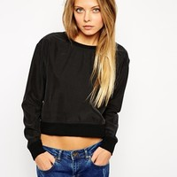 ASOS Cropped Sweat Top at asos.com