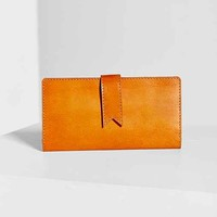 BDG Waxed Leather Wallet- Brown One