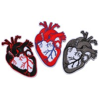 Heart Embroidery Patch For Clothing Punk Motif Iron On Patches DIY Badge Garment Decoration