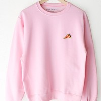 Pizza Oversized Sweater - Pink