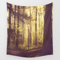 She Experienced Heaven on Earth Among the Trees Wall Tapestry by Olivia Joy StClaire