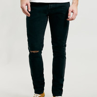 LTD Washed Black Skinny Ripped Jeans - Topman