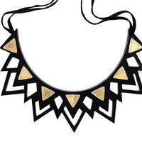 The Fitzgerald gold mirror spike necklace (small)