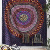 Big Indian Mandala Hippie Wall hanging Tapestry Purple Indian Psychedelic Tapestries