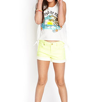 FOREVER 21 GIRLS Side-Tie Mermaid Tank (Kids) Cream/Aqua