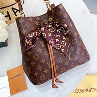Louis Vuitton LV Louis Vuitton Women Shopping Bag Leather Bucket Bag Shoulder Bag Crossbody Satchel