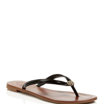 Tory Burch Terra Thong Patent Leather Flip-Flop Sandals | Bloomingdales's