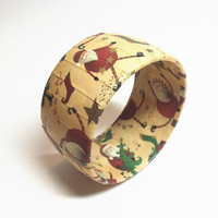 Christmas Bracelet featuring Whimsical Santa, Christmas Jewelry to accessorize your Holiday wardrobe