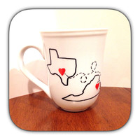 State or Country Heart Mug - Going Away Present, Going Away Gift, Moving Away, Long Distance Relationship, Customize
