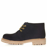 ARROW Lace Up Boots - Navy Blue