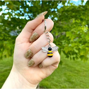 Bee Keychain - Cute Bumble Bee - Save the Bees
