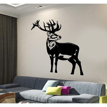 Wall Vinyl Decal Deer Animals Forest Hunting Hunters Home Interior Decor Unique Gift z4284