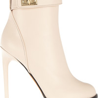 Givenchy - Shark Lock ankle boots in pale blush leather
