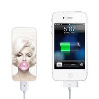 Marilyn Monroe Bubble Gum Power Bank External Battery Charger for iPhone and Samsung Andriod