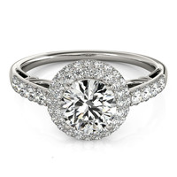 Engagement Ring with Halo