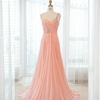 Chiffon Long One shoulder Prom Dresses 2013 from 2013 New Dresses