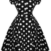 Hearts and Roses Sally Polkadot Dress
