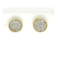 14k Yellow Gold 0.50Ctw Princess Diamond Ladies Fashion Invisible Earrings: Earrings