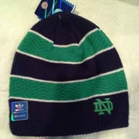 Notre Dame Fighting Irish Women's adidas Striped Knit Hat