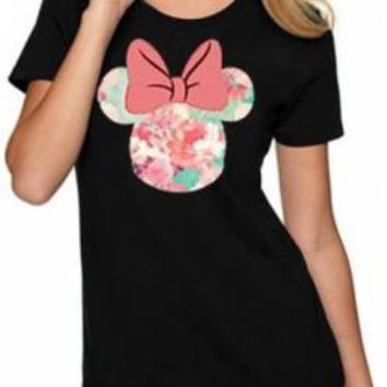 Mickey Mouse Girls T-Shirt - Pink Bow