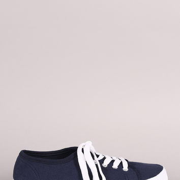 Wild Diva Lounge Canvas Lace Up Sneaker