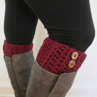Chunky Boot Cuff, Ready to Ship, Multiple Sizes, Multiple Colors,