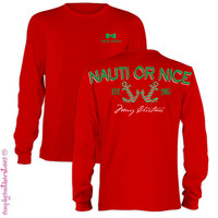 NEW Simply Southern Est 2005 Nauti Or Nice Girlie Bright Long Sleeve T Shirt