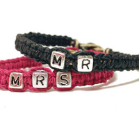 Mr Mrs Couples Bracelets Matching MADE TO ORDER- 3 Week production time