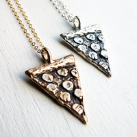 Pepperoni Pizza Slice Necklace- Handmade