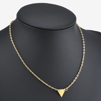 Trendy Geometric Triangle Pendant Chain Necklaces & Pendants Gold Plated  Women Jewelry Accessories Gifts Free Shipping