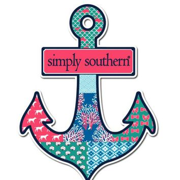 Simply Southern Preppy Stickers Anchor DECAL-ANCHOR