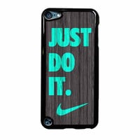 Nike Just Do It Wood Colored Darkwood Wooden Fdl iPod Touch 5th Generation Case