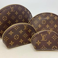 LV Louis Vuitton four-piece cosmetic bag accessories travel storage cosmetic bag