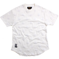 Bazille Scoop Bottom T-Shirt Off White