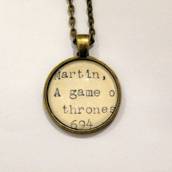 Game of Thrones necklace, gifts under 20, GoT jewelry, Game of Thrones gift, GoT geekery, George R.R. Martin, fantasy jewelry, nerd necklace