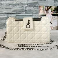 Dior Women Shopping Leather Metal Chain Crossbody Satchel Shoulder Bag  H-MYJSY-BB