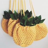 Crossbody Bag Pineapple bag,  Summer bag Crochet Bag Beach bag Yellow Crochet Bag, Hippie, Crossbody Purse Pineapple Beach Summer