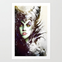 Maleficent Art Print by Vincent Vernacatola