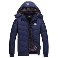 ONETOW ADIDAS Woman Men Fashion Cotton Cardigan Jacket Coat Windbreaker-2