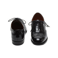 Lace Up Brogue in Black Patent | Shoes | Mulberry