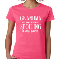 Hot Pink Grandma Is My Name Tee