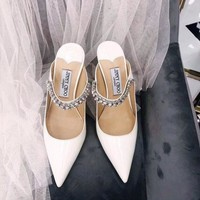 HCXX 1643 JIMMY High-heeled pointed slipper Heel 7cm White