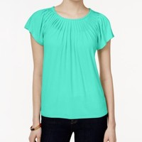 Style & Co. Pleated-Neck Top, Only at Macy's   macys.com